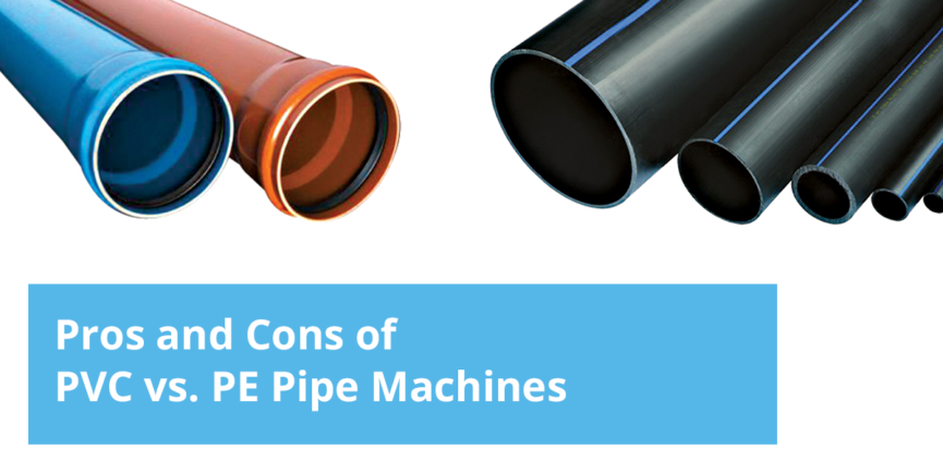 pe vs pvc pipe manufacturing machine