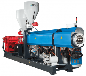 drts twin screw pvc pipe extruder machine
