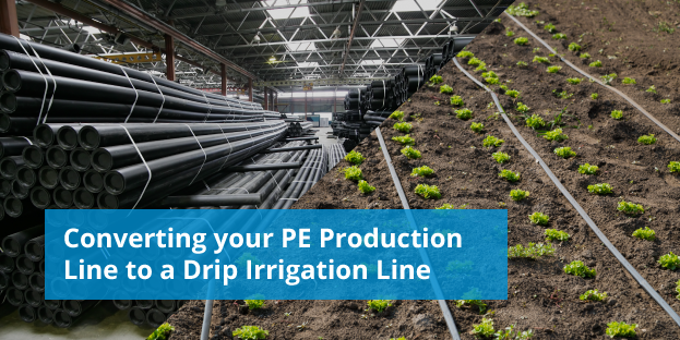 how to convert pe line to drip irrigation