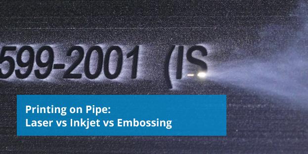 laser printing on plastic pipe